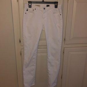 AG Stevie white denim 5-pocket jeans